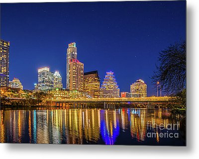 Skyline Of Downtown Austin Metal Print by Tod and Cynthia Grubbs