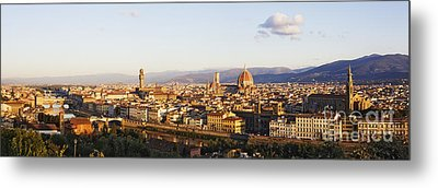 Skyline Of Florence From The Piazza Michelangelo At Dawn Metal Print by Jeremy Woodhouse