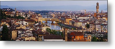 Skyline Of Historic Florence Metal Print by Jeremy Woodhouse