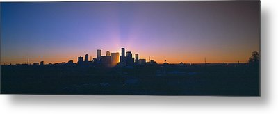Skyline, Sunrise, Denver, Co Metal Print by Panoramic Images