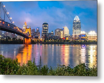 Skyline View Of Cincinnati Ohio Metal Print by Gregory Ballos