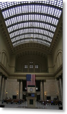 Skylit Chicago Union Station  Metal Print by Christopher Kirby