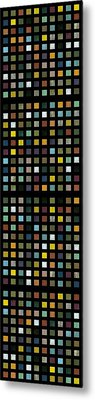 Skyscraper Abstract L Metal Print by Michelle Calkins