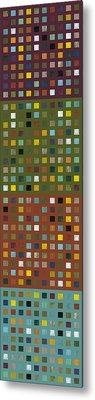 Skyscraper Abstract Ll Metal Print by Michelle Calkins