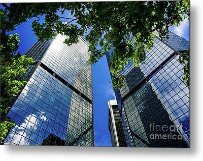 Skyscraper Spring Metal Print