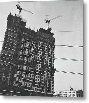 Skyscraper Under Construction Metal Print