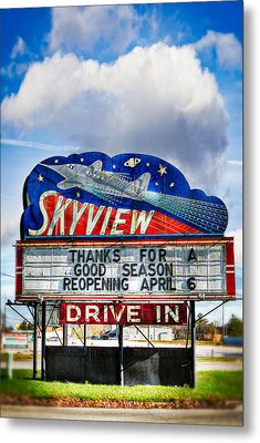 Skyview Drive-in Theater Metal Print