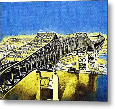 Skyway Terror Metal Print by Deborah MacQuarrie-Selib