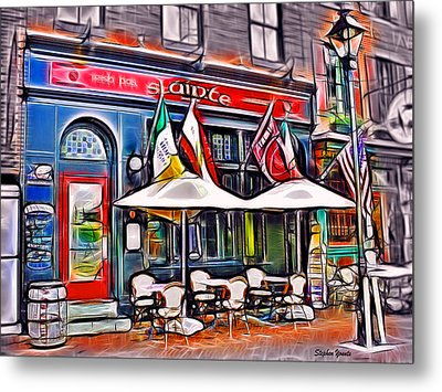 Slainte Irish Pub And Restaurant Metal Print by Stephen Younts