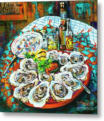 Metal Print featuring the painting Slap Dem Oysters  by Dianne Parks