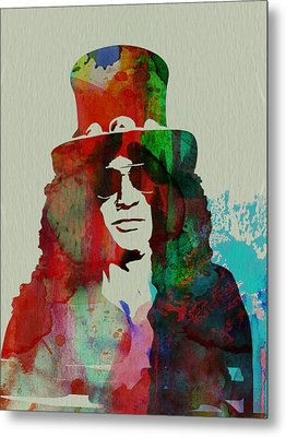 Slash Guns N' Roses Metal Print by Naxart Studio