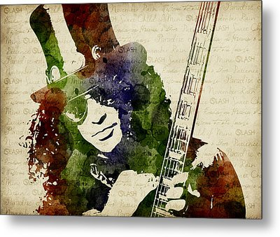 Slash Watercolor Metal Print