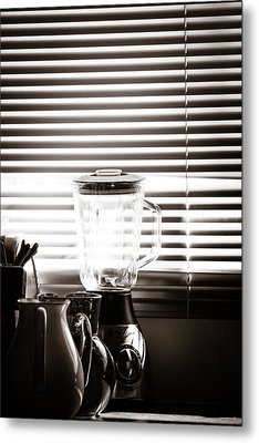 Slatted Shadows Metal Print