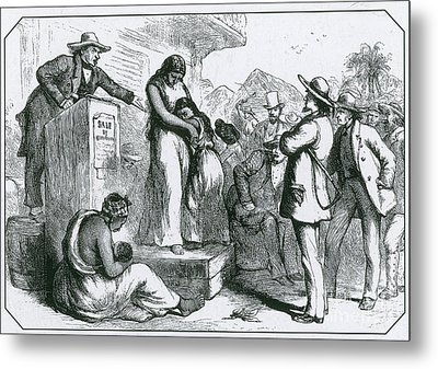 Slave Auction Metal Print by Photo Researchers