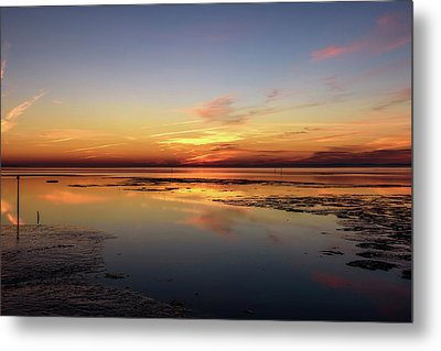 Touching The Golden Cloud Metal Print