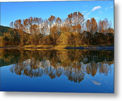 Fraser River Arm  Metal Print by Heather Vopni