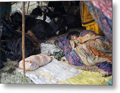 Sleepin Child Metal Print by Tim Gainey