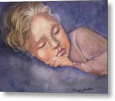 Metal Print featuring the painting Sleeping Beauty by Marilyn Jacobson