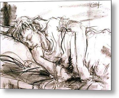 Sleeping Boy Metal Print by Debora Cardaci