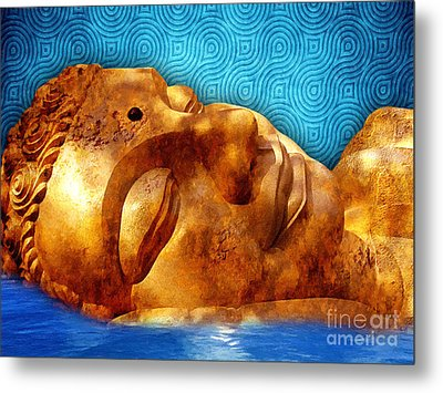 Sleeping Buddha Metal Print by Khalil Houri