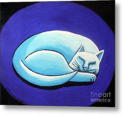 Sleeping Cat Metal Print by Genevieve Esson