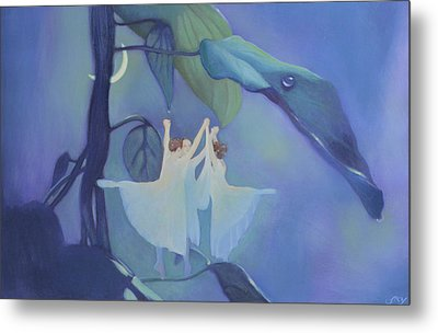 Sleeping Fairies Metal Print