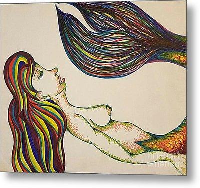 Sleeping Mermaid Metal Print by Alexis Rockway
