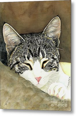 Sleeping Mia Metal Print