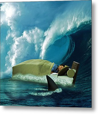 Sleeping With Sharks Metal Print by Marian Voicu
