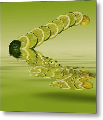 Metal Print featuring the photograph Slices Lemon Lime Citrus Fruit by David French