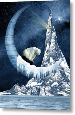 Sliding On The Moon Metal Print