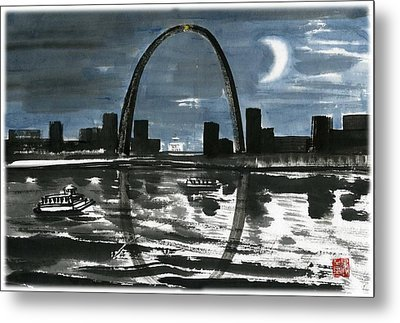 Slient Moon Light Metal Print
