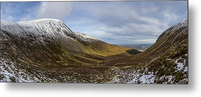 Slieve Commedagh And Slieve Donard Panorama From The Assent  Metal Print