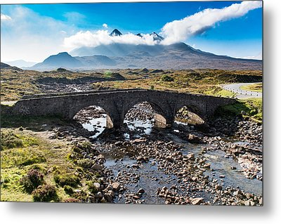 Metal Print featuring the photograph Skye Cuillin From Sligachan by Gary Eason