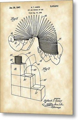 Slinky Patent 1946 - Vintage Metal Print