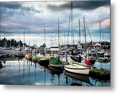 Slips At Point Hudson Marina Metal Print