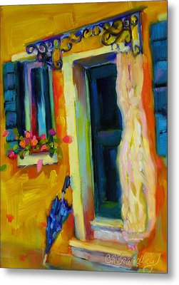 Metal Print featuring the painting Sliver Of Sunshine by Chris Brandley