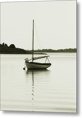 Sloop At Rest  Metal Print by Roupen  Baker