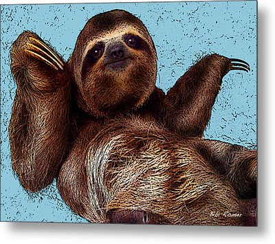 Sloth Pop Art Metal Print