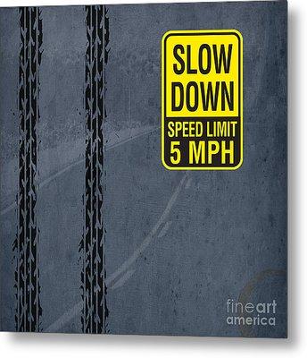 Slow Down, Man Metal Print by Pablo Franchi