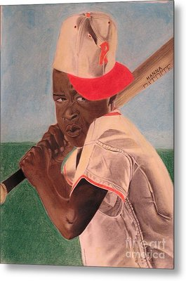 Slugger Metal Print by Wil Golden