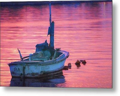 Small Boat At Dawn Havana Cuba  Metal Print
