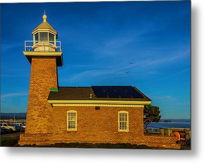 Small Brick Lighthouse Metal Print by Garry Gay