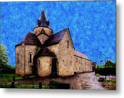 Small Church 1 Metal Print by Jean Bernard Roussilhe