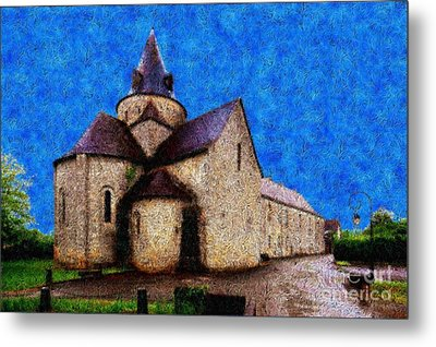 Small Church 4 Metal Print by Jean Bernard Roussilhe