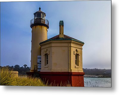 Small Coquile River Lighthouse Metal Print by Garry Gay