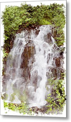 Small Falls On Mt. Ranier Metal Print by Peter J Sucy