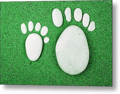 Small Feet And Big Feet 23 Metal Print by Jean Francois Gil