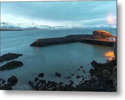 Metal Print featuring the photograph Small Port Near Snaefellsjokull Mountain, Iceland by Dubi Roman