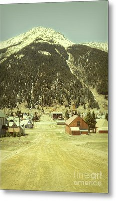 Metal Print featuring the photograph Small Rocky Mountain Town by Jill Battaglia